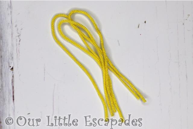 yellow string aquabeads advent calendar
