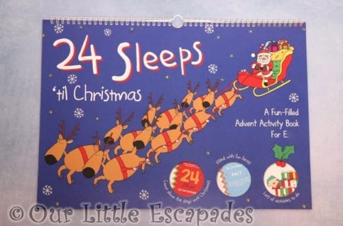 24 sleeps til christmas advent book