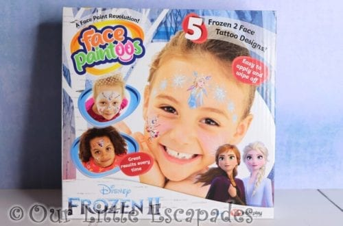 disney frozen II face paintoos christmas giveaway