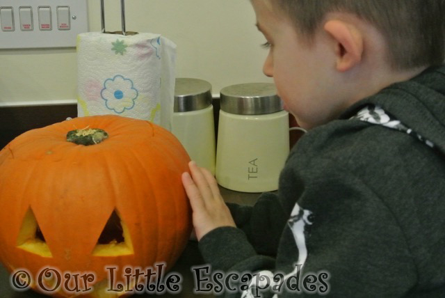 ethan pumpkin carving halloween 2014
