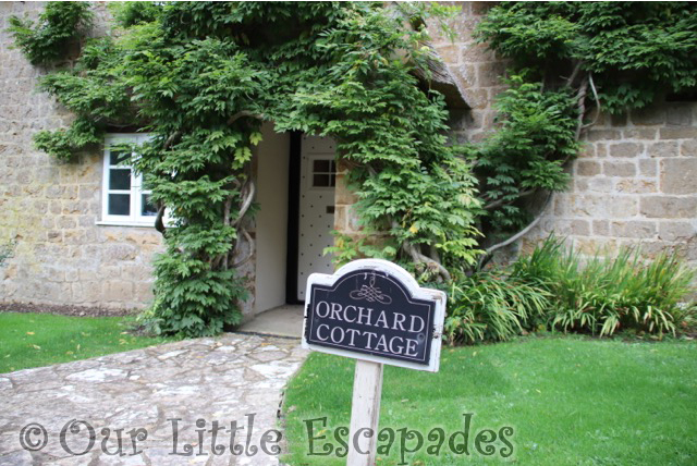 front door sign orchard cottage dillington estate Holiday in Somerset