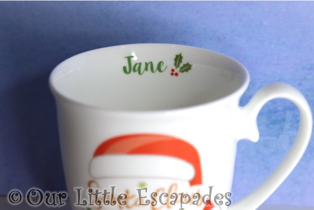 jane personalisation santa claus is comin to town marquee mug personalised funky pigeon christmas gift ideas