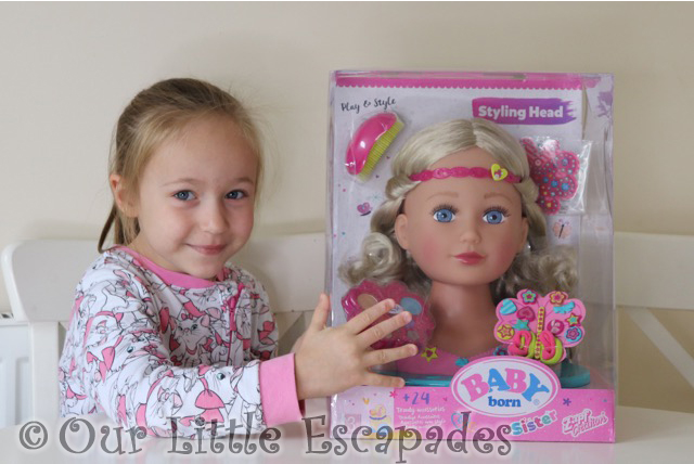 little e baby born sister styling head boxed