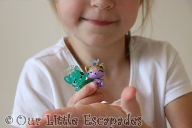 little e holding hatchimals colleggtibles