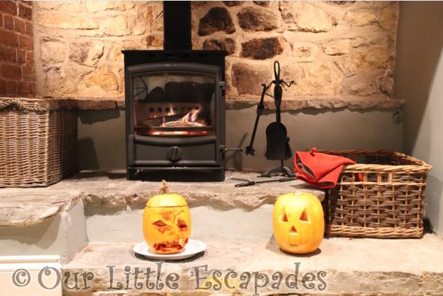 pumpkins fire place orchard cottage dillington estate