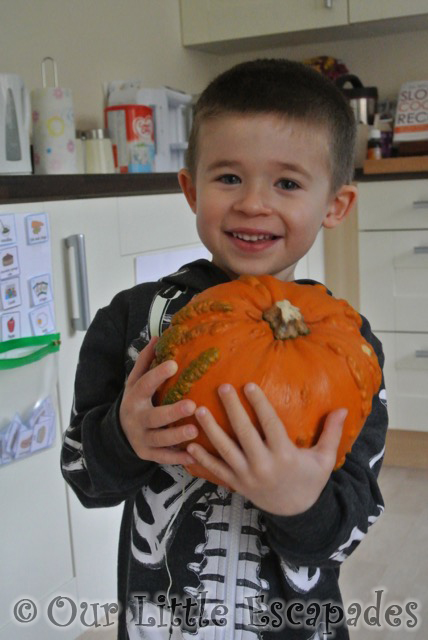 smiling ethan pumpkin carving halloween 2014