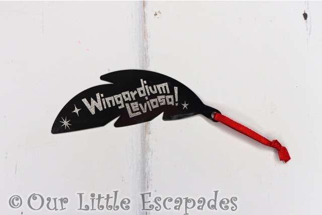 wingardium leviosa silver bookmark harry potter infinity advent calendar