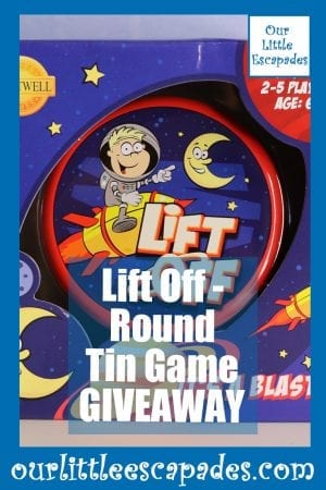 Lift Off Round Tin Game GIVEAWAY