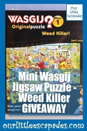 Mini Wasgij Jigsaw Puzzle Weed Killer GIVEAWAY