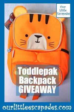 Toddlepak Backpack GIVEAWAY