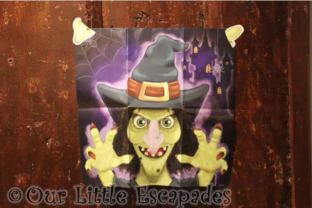 pin the nose on the witch celebrating halloween with our friends