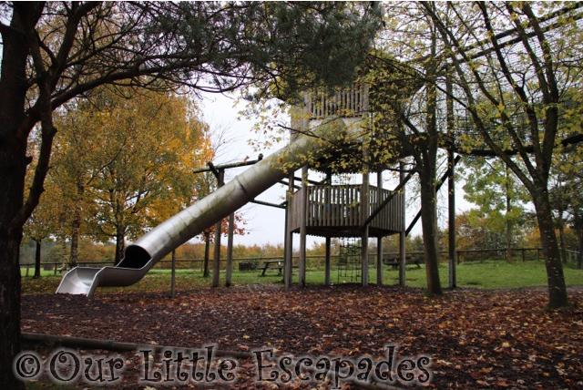 slide great ape play area