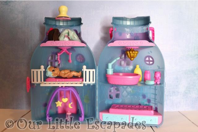 inside baby bottle house baby born surprise
