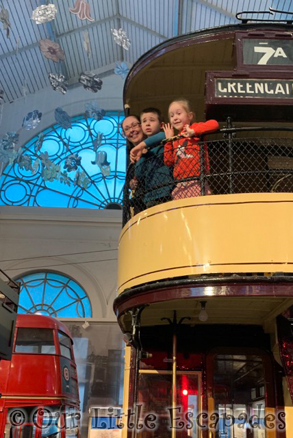 jane ethan little e tram london transport museum