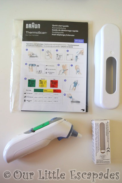 braun thermoscan thermometer box contents