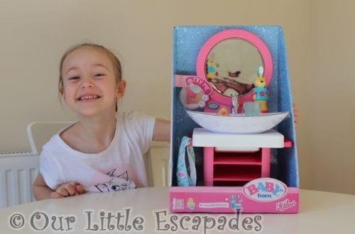 little e baby born bath toothcare spa