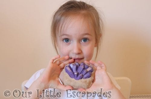 little e clay shaped purple gemstone national geographic gemstone dig kit review