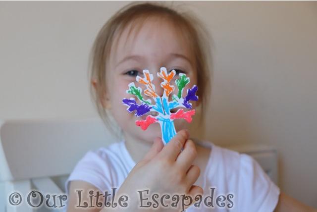 little e multi coloured tree