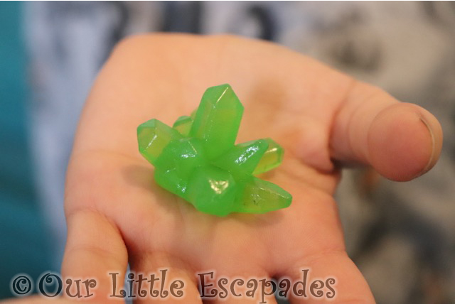 green crystal stone monster
