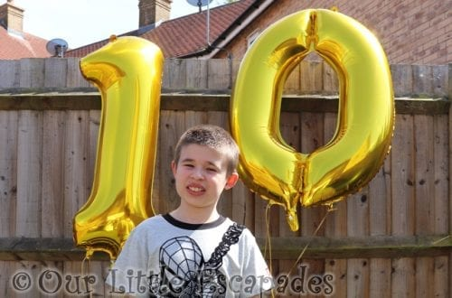 ethan tenth birthday balloons