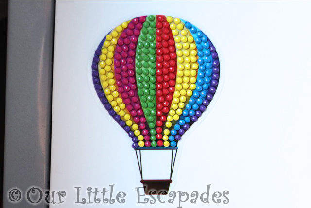 hot air balloon crystal art motifs
