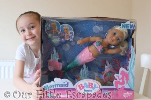 little e baby born little sister mermaid boxed