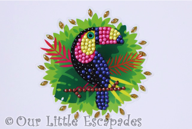 toucan crystal art motif